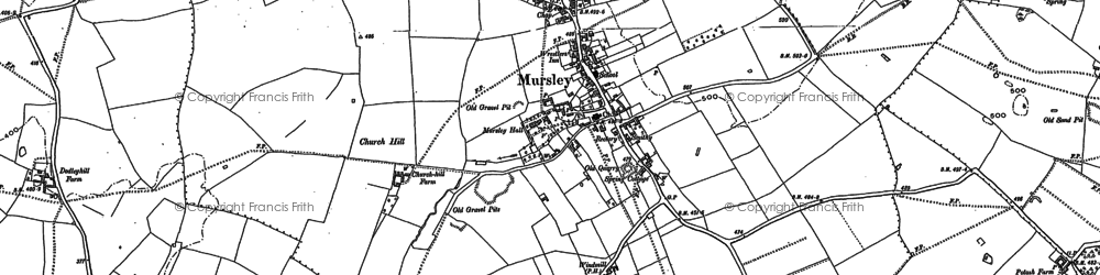 Old map of Mursley in 1898