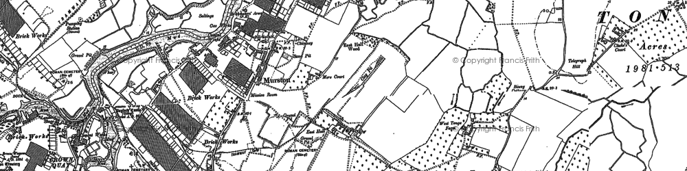 Old map of Tonge Corner in 1896