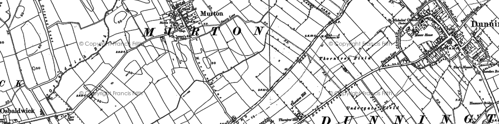 Old map of Yorkshire Museum of Farming in 1890