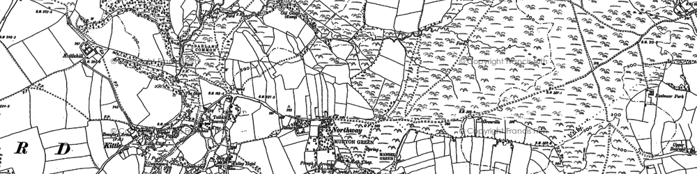 Old map of Murton in 1896