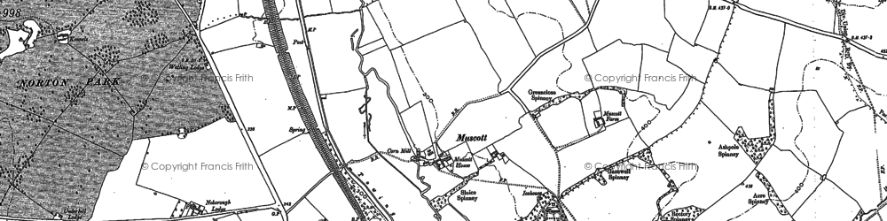 Old map of Whilton Lodge in 1883