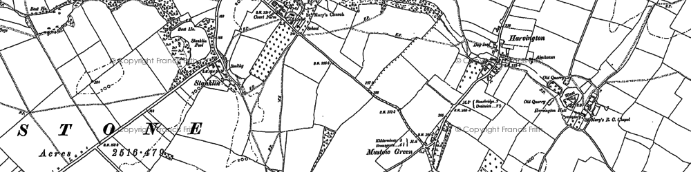 Old map of Winterfold Ho in 1883