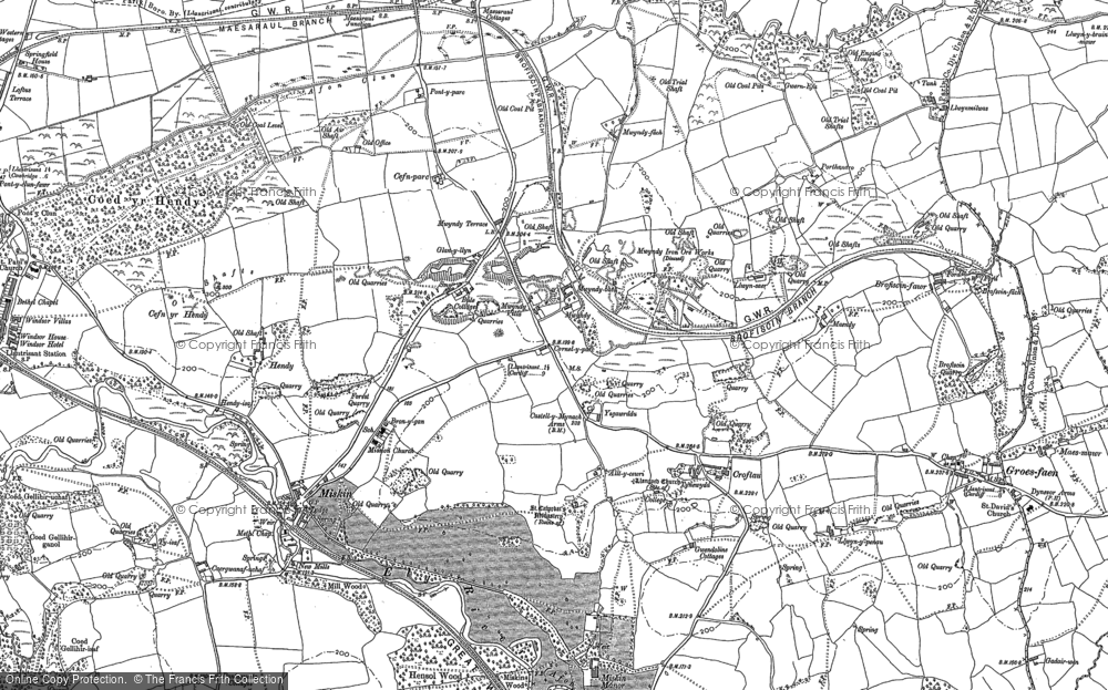Old Map of Mwyndy, 1898 in 1898