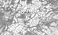 Old Map of Myddfai, 1904