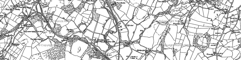 Old map of Tir-y-dail in 1898