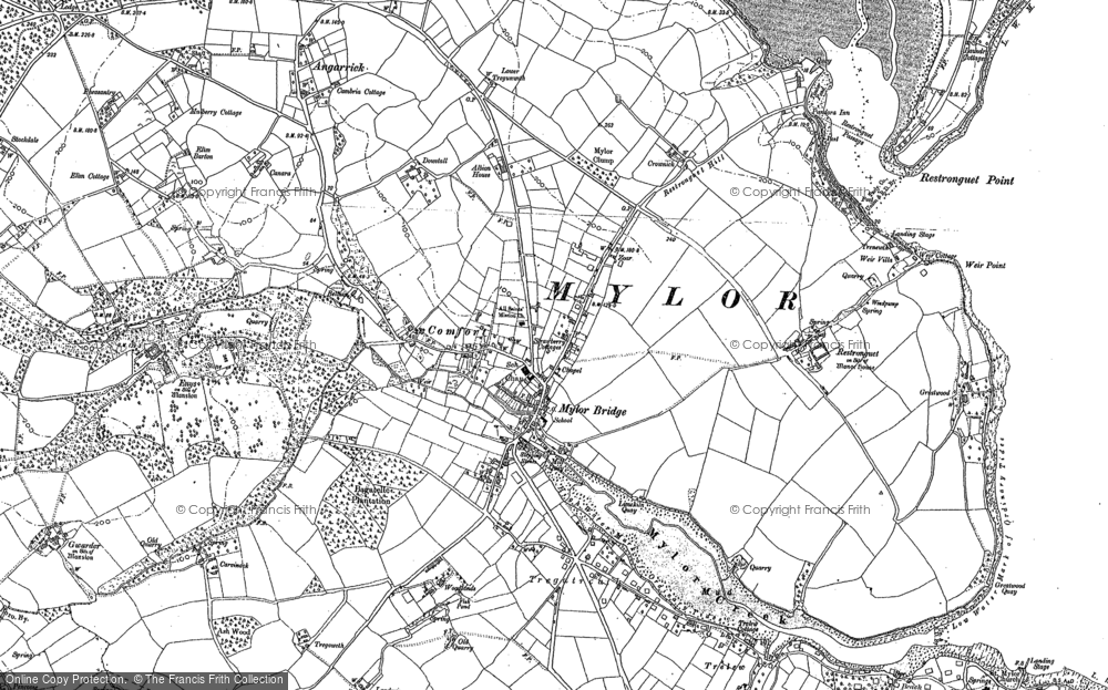 Old Map of Mylor Bridge, 1878 - 1906 in 1878