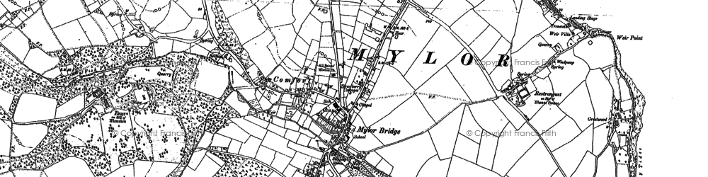 Old map of Harcourt in 1878