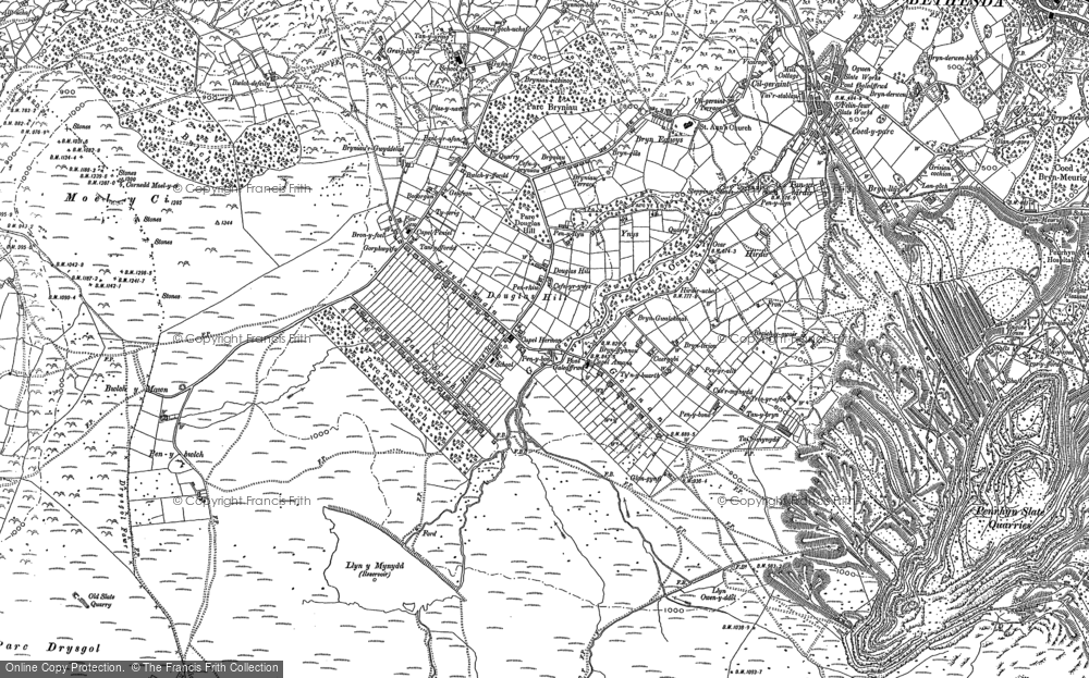 Old Map of Historic Map covering Afon Marchlyn-mawr in 1888