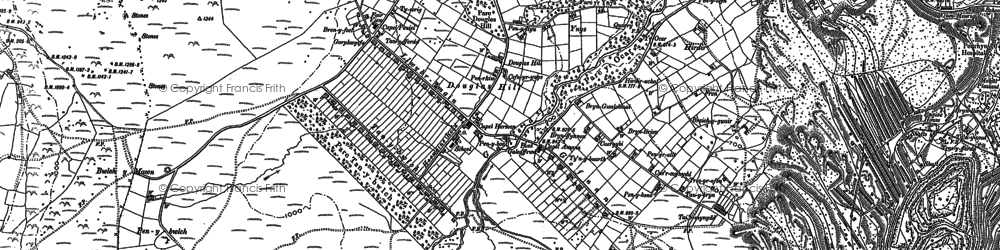 Old map of Afon Marchlyn-mawr in 1888