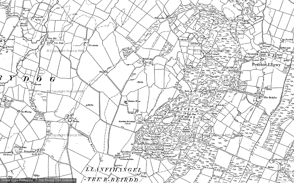 Old Map of Historic Map covering Afon Lligwy in 1887