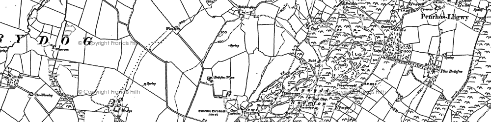 Old map of Afon Lligwy in 1887