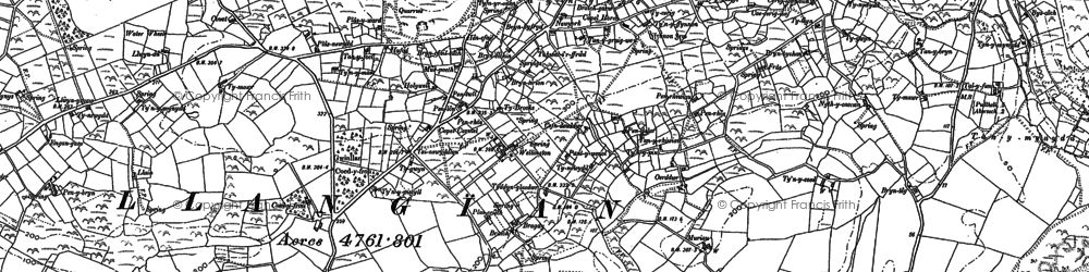 Old map of Mynytho in 1888
