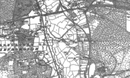 Old Map of Mytchett, 1913 - 1918