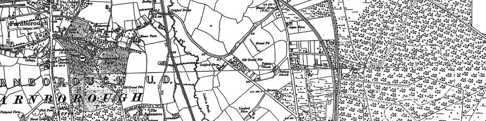 Old map of Mytchett in 1913