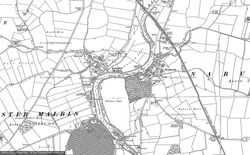 Old Map of Naburn, 1890 - 1891 in 1890