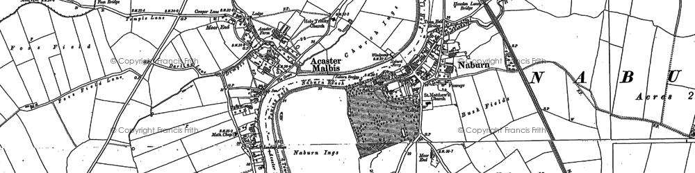 Old map of Naburn in 1890