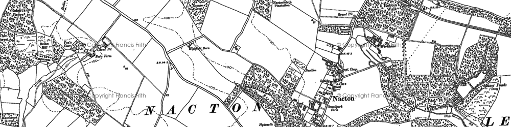 Old map of Amberfield in 1881