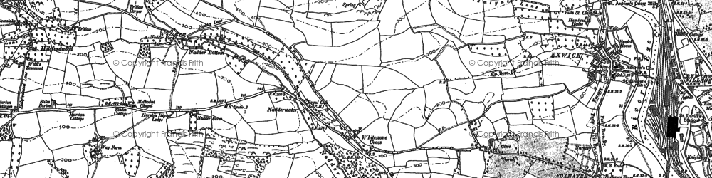 Old map of West Rowhorne in 1887