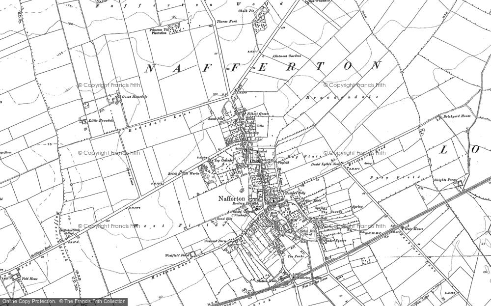 Map of Nafferton, 1891