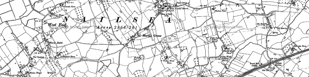 Old map of Nailsea in 1883