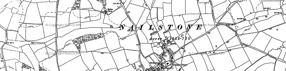 Old map of Belcher's Bar in 1885