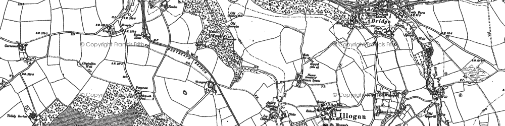Old map of Nance in 1906
