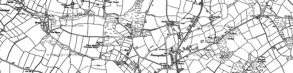 Old map of Nancegollan in 1877