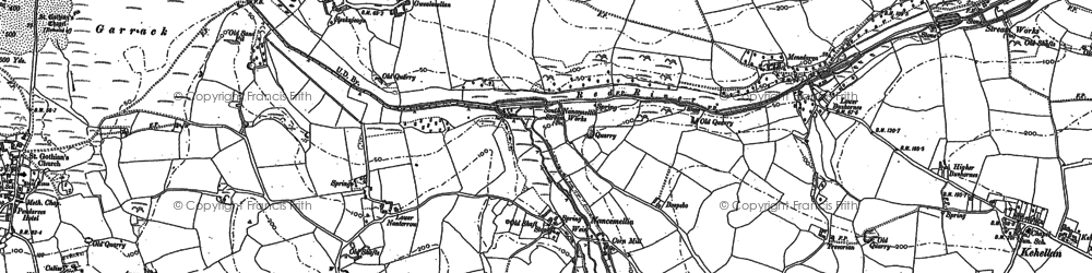 Old map of Nancemellin in 1877