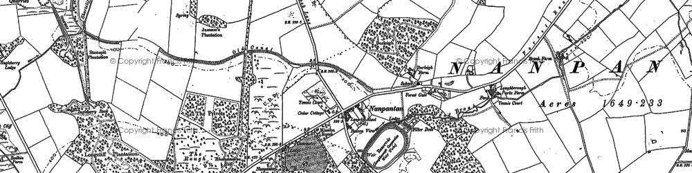 Old map of Wood Brook in 1883