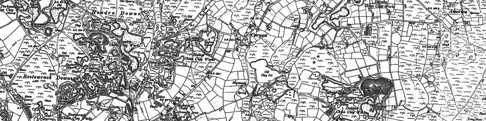 Old map of Nanpean in 1879