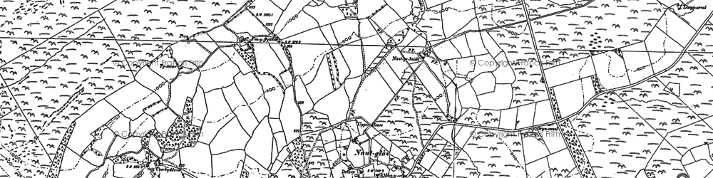 Old map of Yr Hysfa in 1902