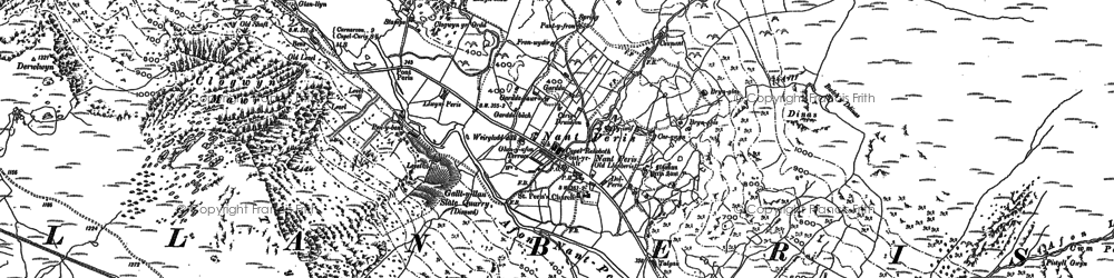 Old map of Afon Las in 1888