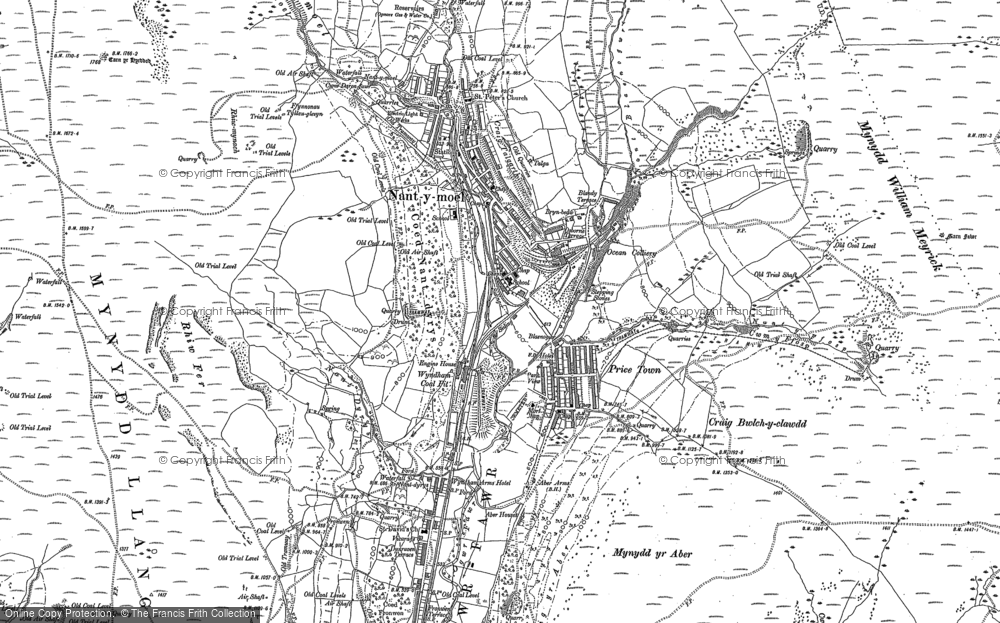 Old Map of Historic Map covering Price Town in 1897