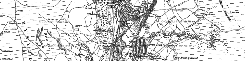 Old map of Price Town in 1897