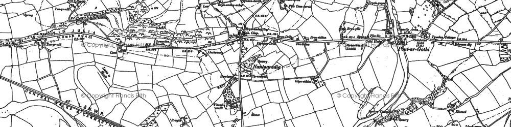 Old map of Abercothi Ho in 1886