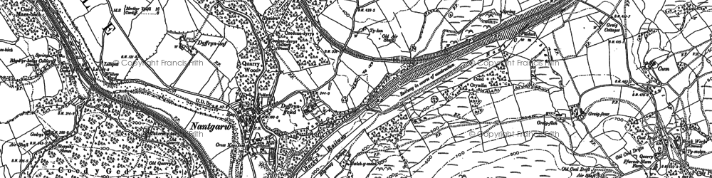 Old map of Nantgarw in 1898