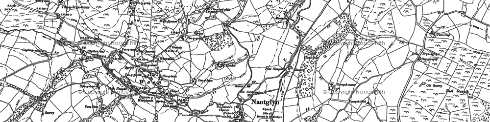 Old map of Cader in 1898