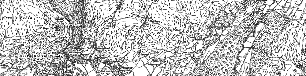 Old map of Cwm Bychan in 1899