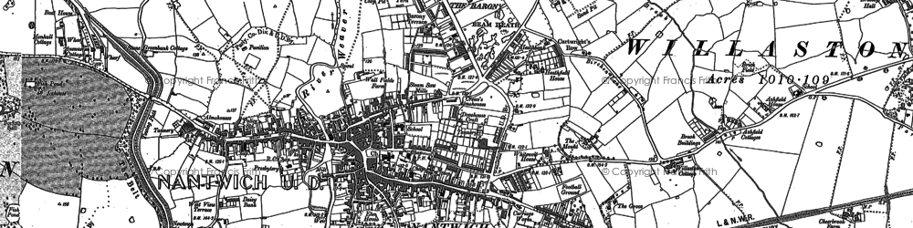 Old map of Nantwich in 1897