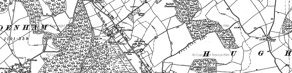 Old map of Naphill in 1897