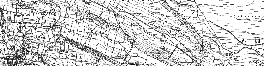 Old map of Whirley Gill in 1891