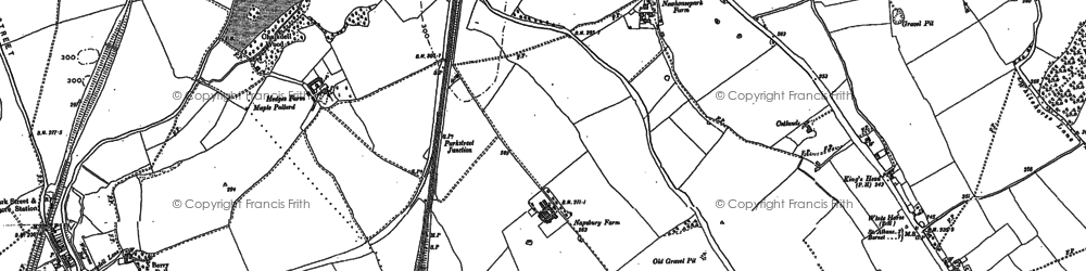 Old map of Sopwell in 1895