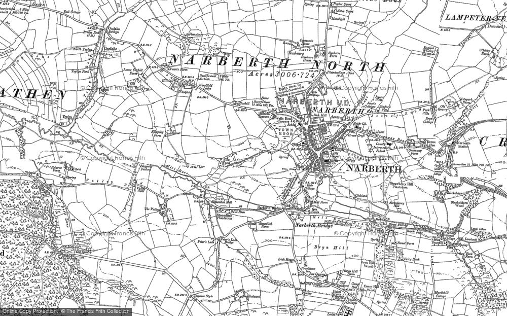 Old Map of Historic Map covering Woodfield in 1887
