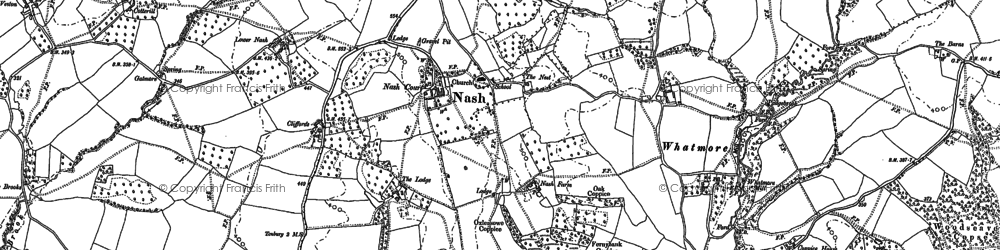 Old map of Tilsop in 1883