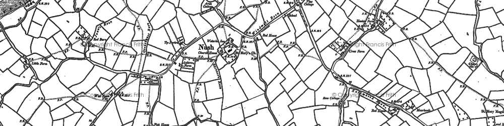 Old map of Broadstreet Common in 1885