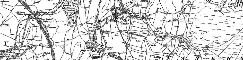 Old map of Wharton Fell in 1885