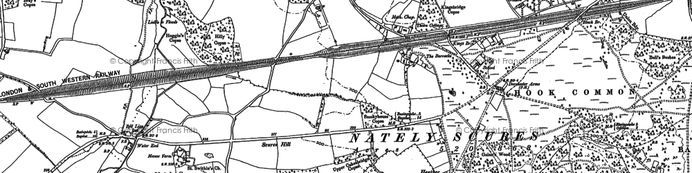 Old map of Nately Scures in 1894