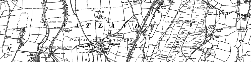 Old map of Natland in 1896