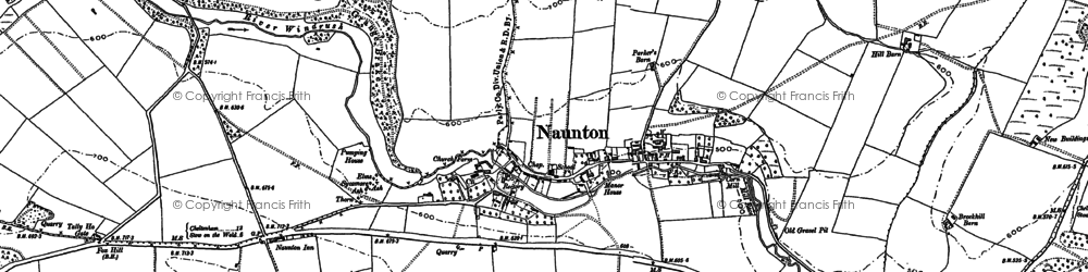Old map of Aylworth in 1883