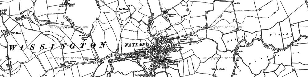 Old map of Wissington Grange in 1885